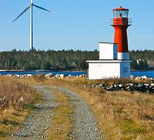 Pubnico Harbour Lighthouse by David Davies
