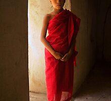 Novice monk, Mandalay, Burma by Rob Dougall