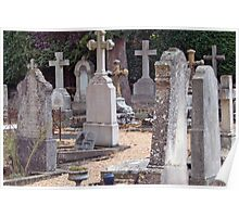 Headstones In Provence Poster