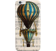Balloon Vintage Music Notes iPhone Case/Skin