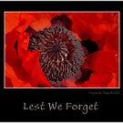 Lest We Forget by Tracy Riddell