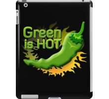 Green is HOT iPad Case/Skin
