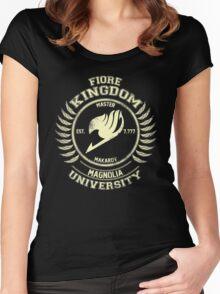 magnolia university cream Women's Fitted Scoop T-Shirt