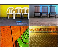 Chairs Collage Photographic Print