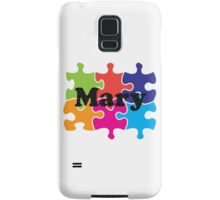 Mary Puzzle Name Samsung Galaxy Case/Skin