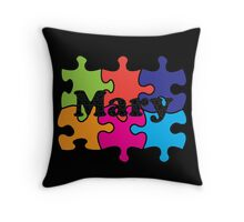 Mary Puzzle Name Throw Pillow