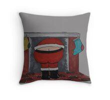 Santa Crack Throw Pillow