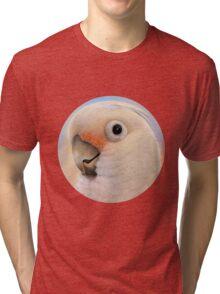 Goffin Tanimbar Corella Cockatoo Tri-blend T-Shirt