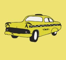 Cute Yellow Cab Kids Tee