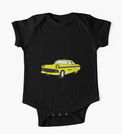 Cute Yellow Cab One Piece - Short Sleeve