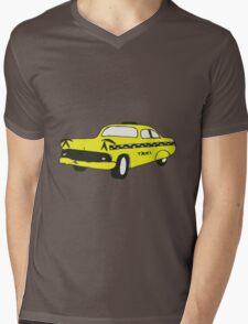 Cute Yellow Cab Mens V-Neck T-Shirt