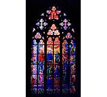 St. Vitus Cathedral Window Photographic Print
