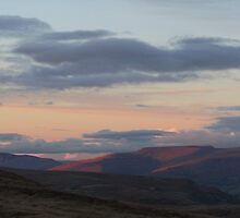 Sunset over the Beacons by sjbaldwin