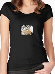 Flowing Golden Abstract Composition small print Women's Fitted Scoop T-Shirt