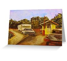 Toll Booth Greeting Card