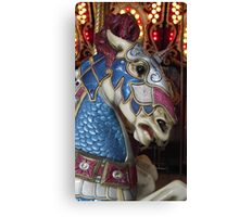 Unicorn warrior carousel horse Canvas Print