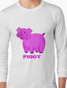Little Piggy T-shirt, etc. design Long Sleeve T-Shirt