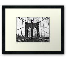 Brooklyn Bridge, NYC Framed Print
