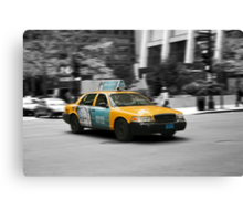 Chicago yellow cab Canvas Print