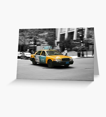 Chicago yellow cab Greeting Card
