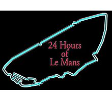 LE MANS, 24 Hours of Le Mans. 24 hrs, 24 Heures du Mans, Motorsport, Cars, Race, on black Photographic Print
