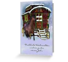 German Christmas Card - The Traveller Greeting Card