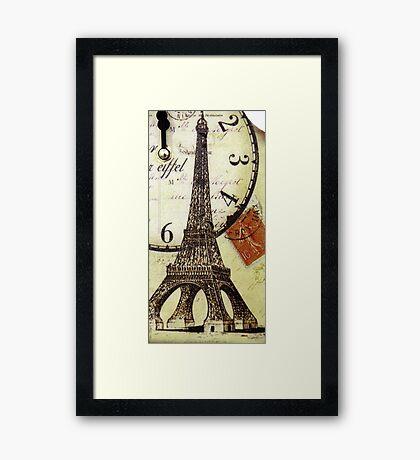 Eiffel Tower Vintage Framed Print