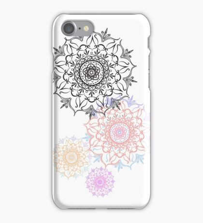 Colourful mandala iPhone Case/Skin