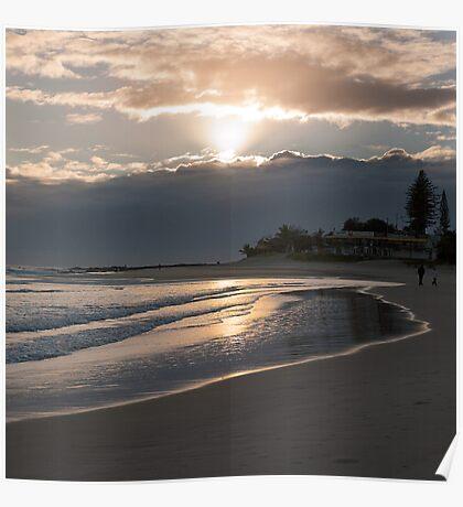 Rainbow Bay sunrise Poster