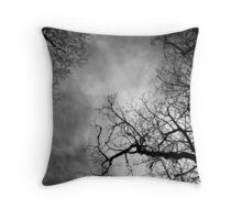 barren trees Throw Pillow