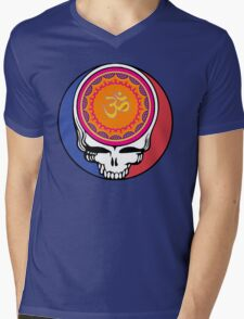 Grateful Dead Om Your Face Mens V-Neck T-Shirt