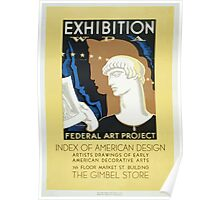 WPA United States Government Work Project Administration Poster 0391 Federal Art Project Index of American Design Poster
