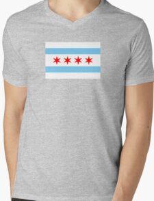 Chicago Flag Mens V-Neck T-Shirt