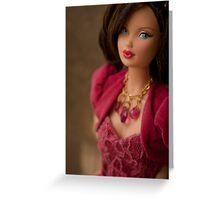 Miss Ruby Barbie Doll Greeting Card