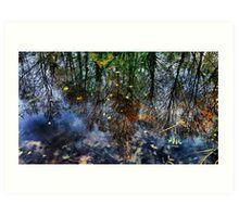 Reflected Glory - Lakeside in Buckinghamshire Art Print