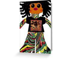 Litttle Reggae Rag Doll Wearing Mommy's Art 6 Greeting Card