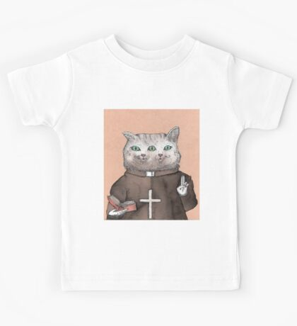 Bicephalous Cat Kids Tee