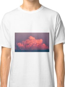 clouds in the sky at sunset colored rose Classic T-Shirt