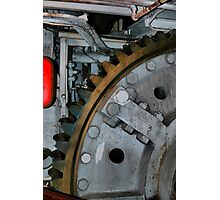 The gears of the Queen Mary Photographic Print