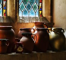 Earthenware Pots ~ St Mary's Church by Susie Peek