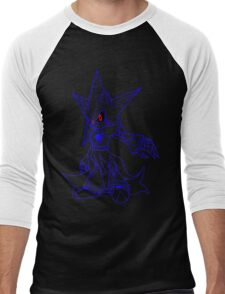 Neo Metal Sonic [Lines] Men's Baseball ¾ T-Shirt