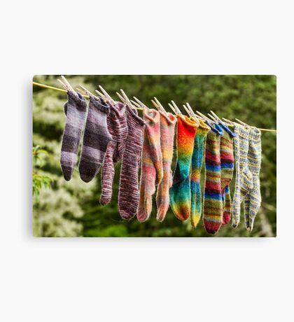 Nova Scotia Hand Knitted Socks Canvas Print
