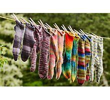 Nova Scotia Hand Knitted Socks Photographic Print