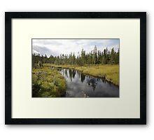 River in northern Sweden Framed Print