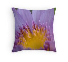 Water Lily in Purple Throw Pillow