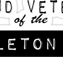 Proud Veteran of the Skeleton War Sticker