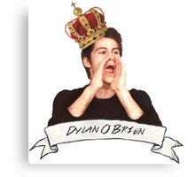 Dylan O'Brien OUR KING Canvas Print