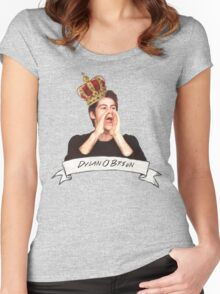 Dylan O'Brien OUR KING Women's Fitted Scoop T-Shirt