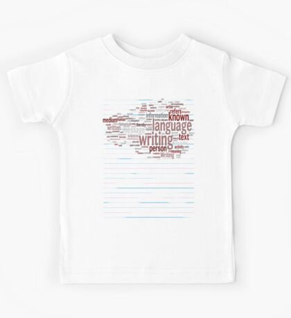 Known Language Writing Person Kids Tee
