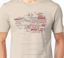 Known Language Writing Person Unisex T-Shirt
